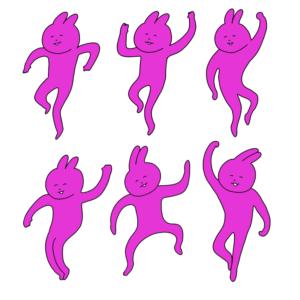 踊るウサギ