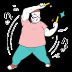 ヲタ芸を踊るオタク