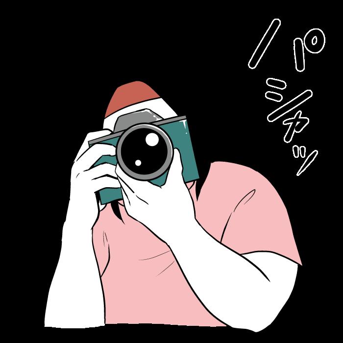 写真を撮るオタク