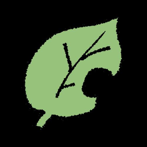 シンプルな葉