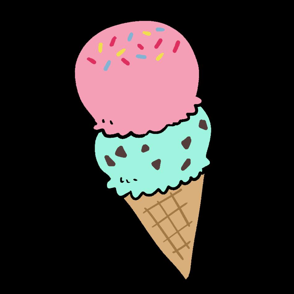 ストロベリーとチョコミントのアイス