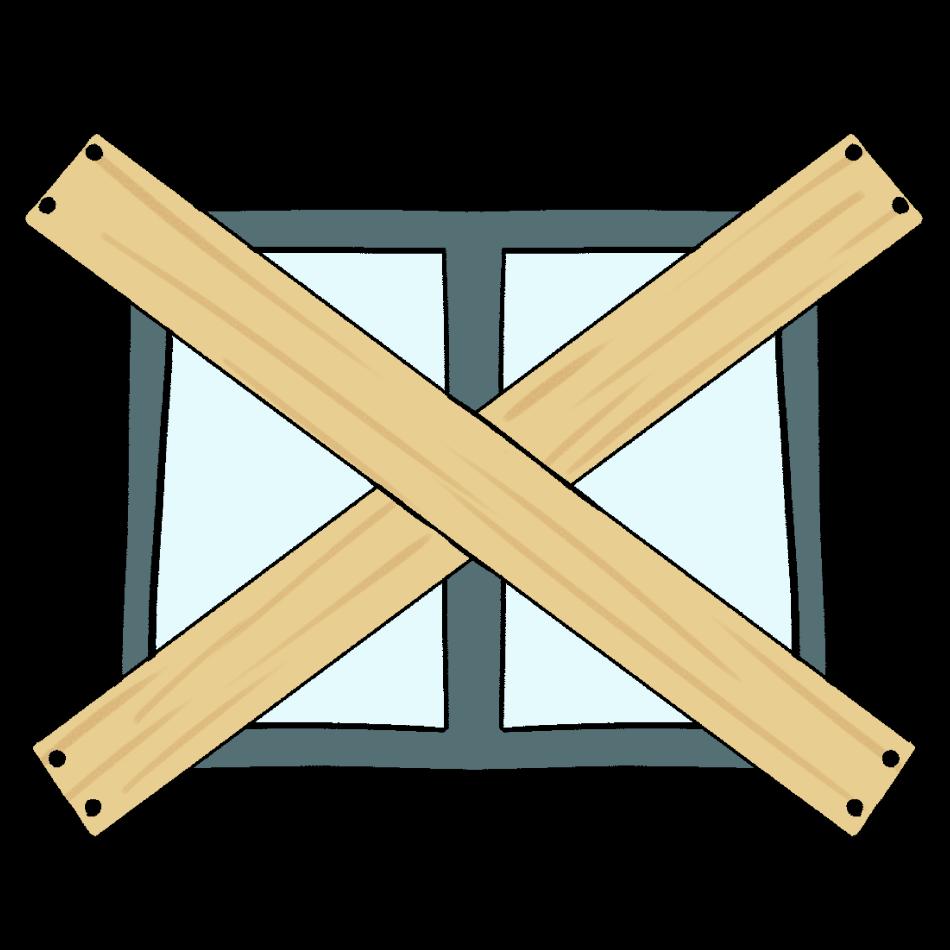 台風対策の窓