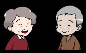 会話をする高齢者