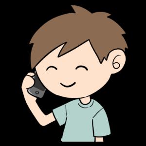電話をする男子