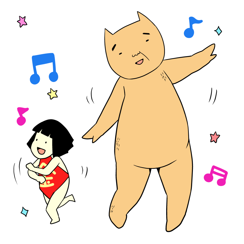 踊る金太郎とクマ