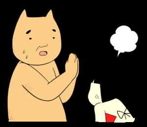 怒っている金太郎に謝るクマ