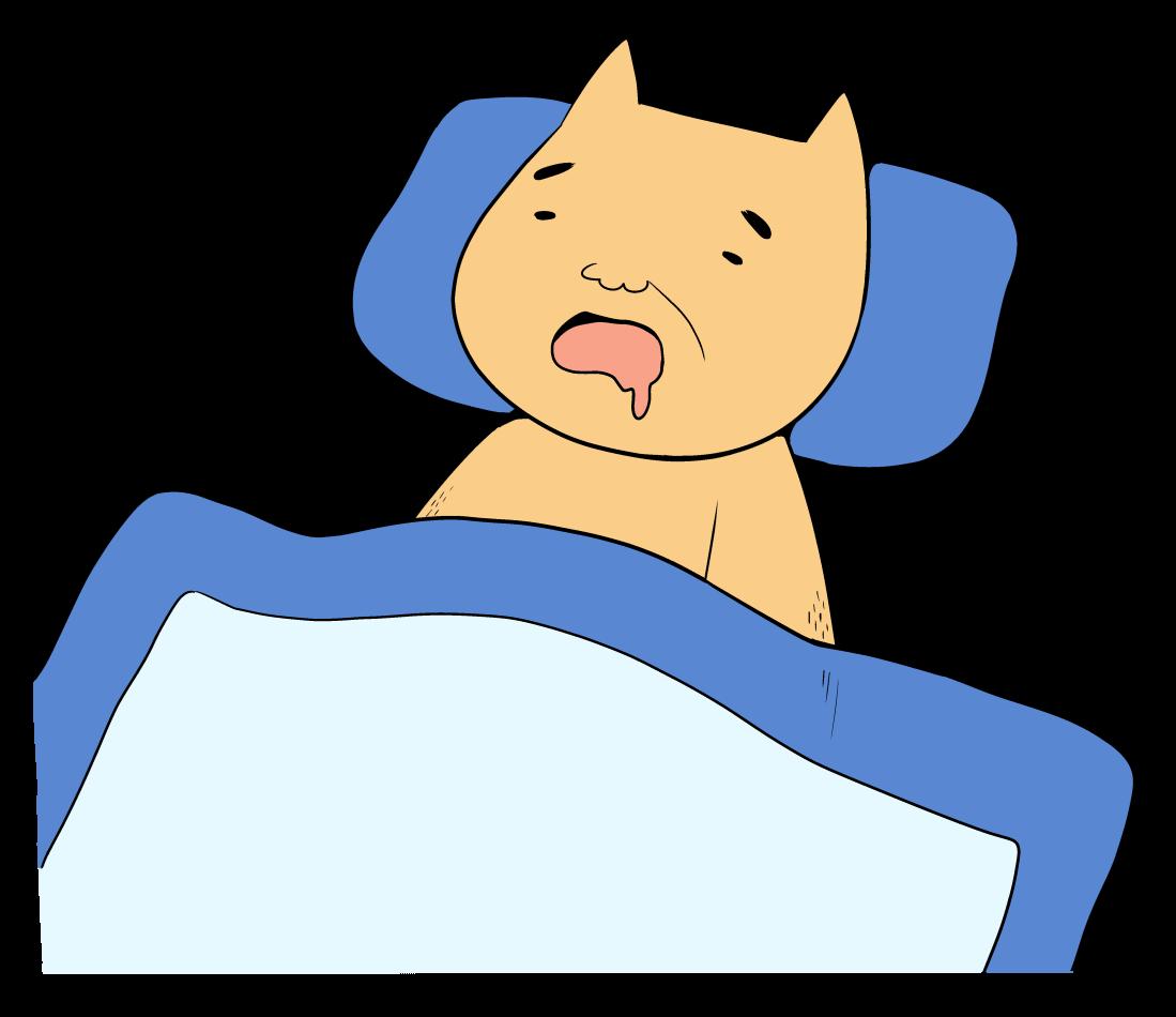 グッスリ寝ているクマ