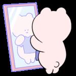 鏡をみるめまいちゃん