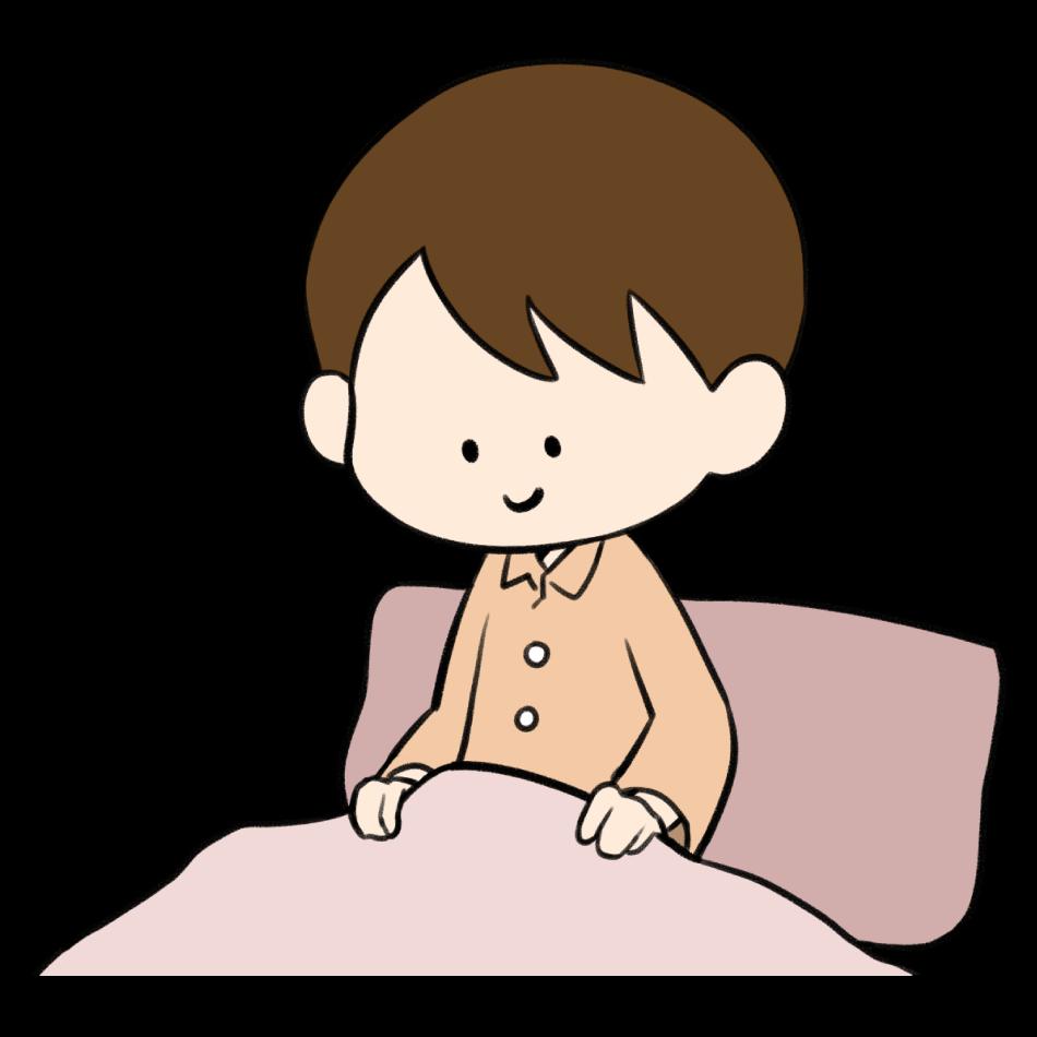 すっきり目覚めた男の子