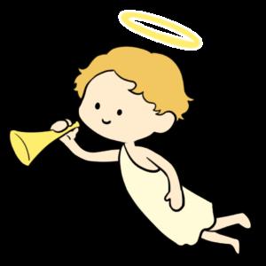 ラッパを持つ天使
