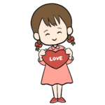 LOVEなハートを持つ女の子