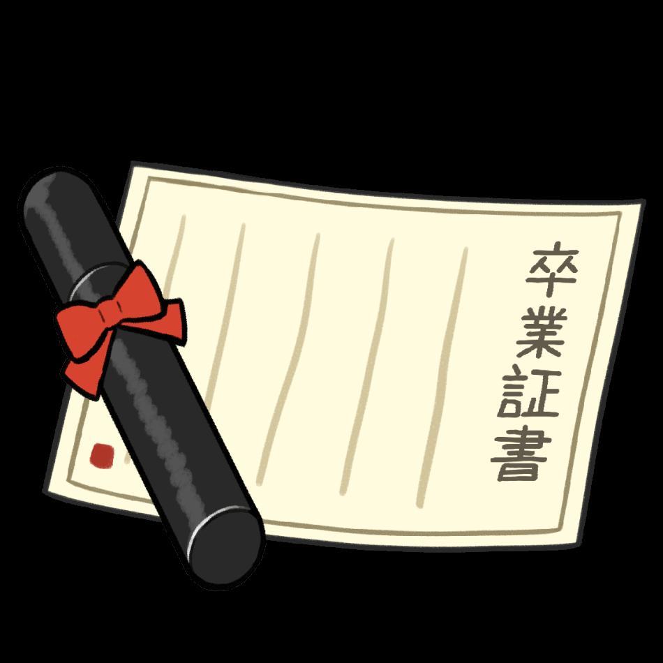 卒業証書と丸筒
