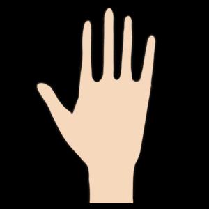 シンプルな手